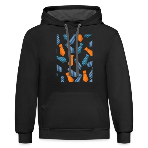 HAPPY FATHERS DAY - Contrast Hoodie