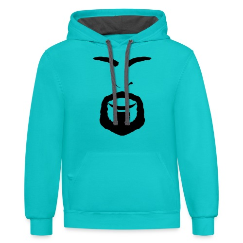 FACES_ANGRY - Contrast Hoodie