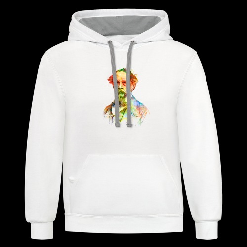 What the Dickens? | Classic Literature Lover - Contrast Hoodie