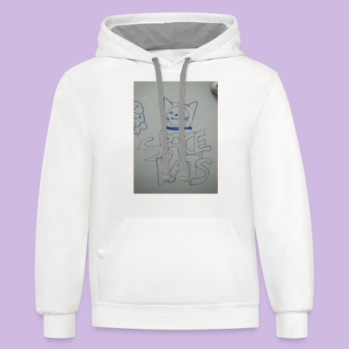 Space kats first design - Contrast Hoodie