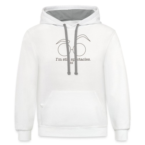 I'm Still Spectacles - Unisex Contrast Hoodie