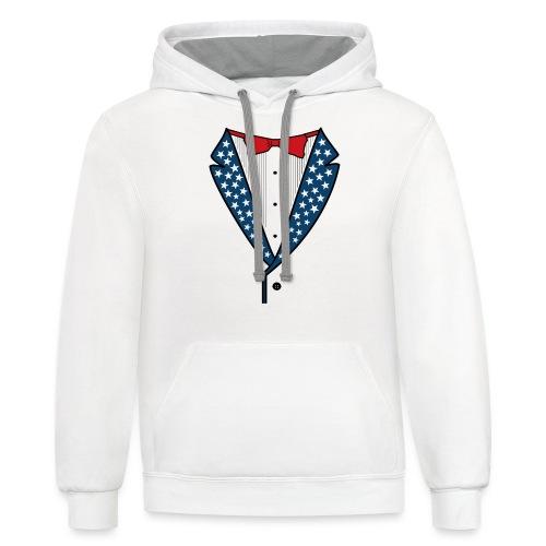 Star Spangled Tuxedo T-Shirt - Contrast Hoodie