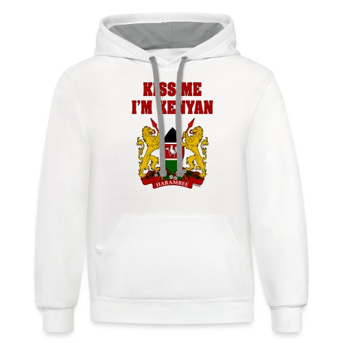 Kiss Me, I'm Kenyan - Contrast Hoodie