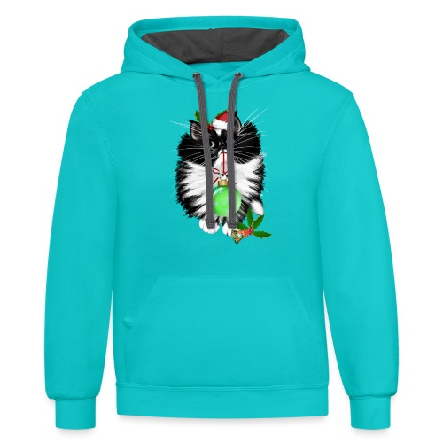 A Tuxedo Merry Christmas - Contrast Hoodie
