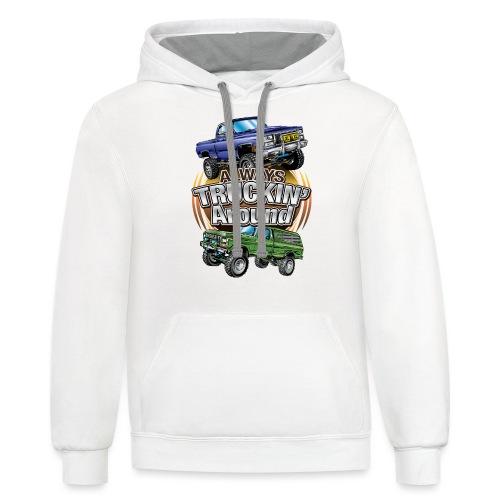 Chevy Truckin Around - Contrast Hoodie