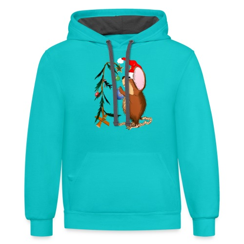 Little Christmas Mouse - Contrast Hoodie