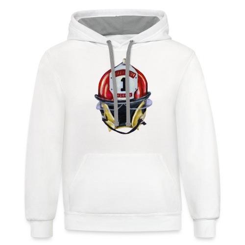 Firefighter - Unisex Contrast Hoodie
