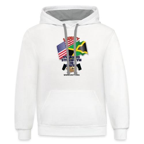 Jamaican flagE01 - Unisex Contrast Hoodie