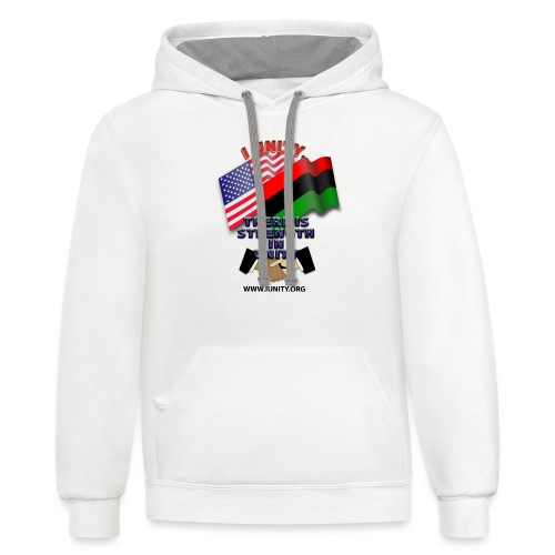 us afro E02 - Unisex Contrast Hoodie