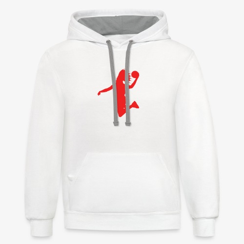 EVB Classic Red and Black - Unisex Contrast Hoodie