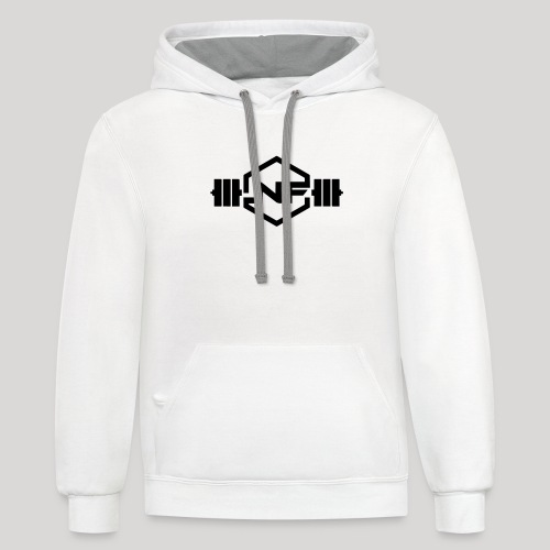 Natural Fitness Gym Logo - Unisex Contrast Hoodie