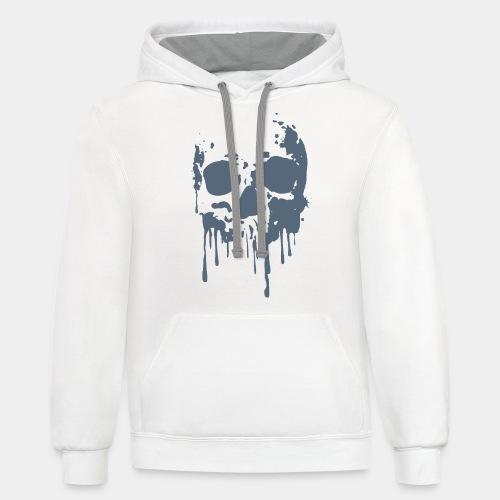 skull blood - Contrast Hoodie