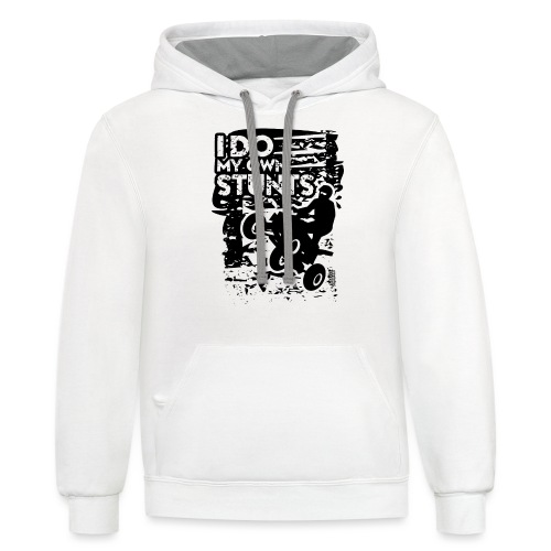 ATV Quad My Own Stunts - Contrast Hoodie