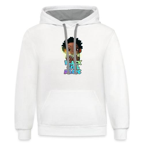 Black Girl Magic - Unisex Contrast Hoodie