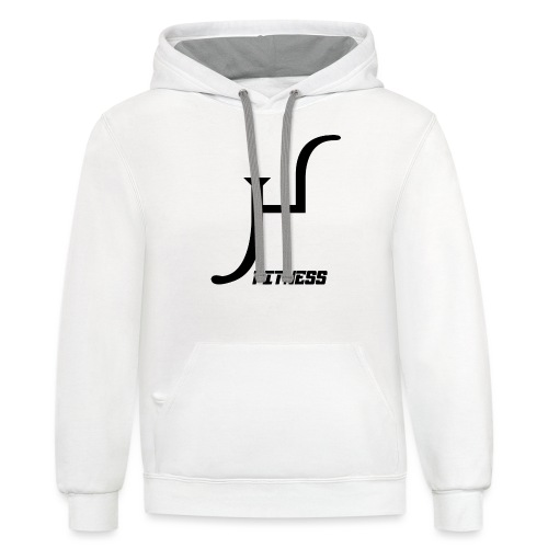 HIIT Life Fitness logo white - Contrast Hoodie
