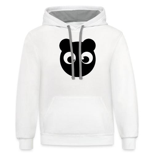 BearBun - Black - Contrast Hoodie