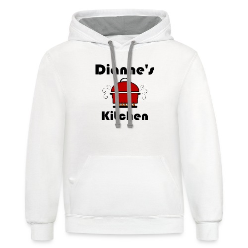 Dianne's Kitchen with Red Pot - Unisex Contrast Hoodie