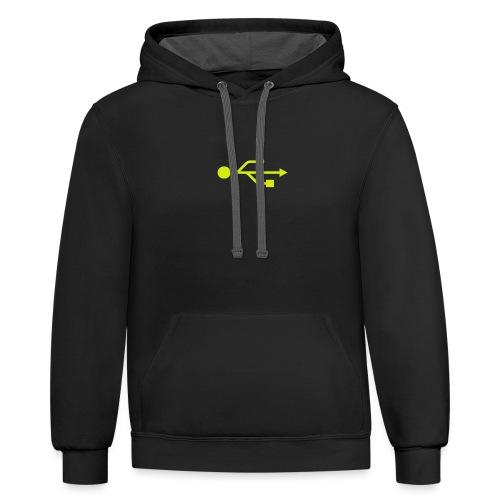 Yellow USB Logo Mid - Contrast Hoodie
