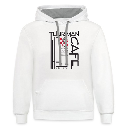 Thurman Cafe Traditional Logo - Unisex Contrast Hoodie