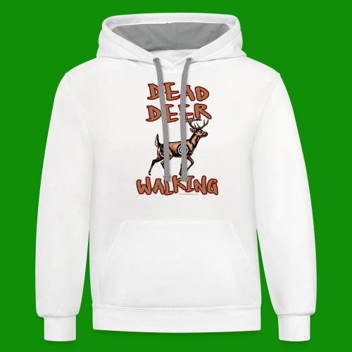 Dead Deer Walking - Unisex Contrast Hoodie