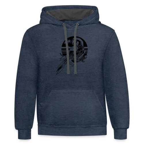 Tropical Parrot - Contrast Hoodie