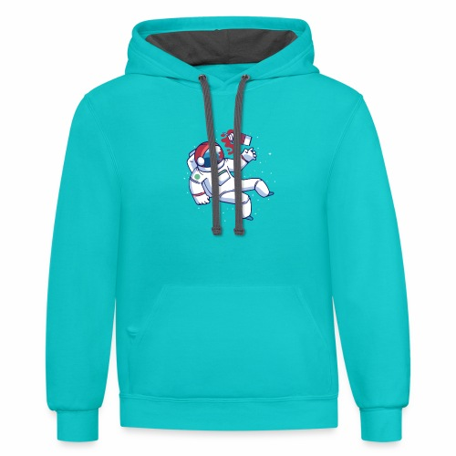 Astronaut frappuccino - Contrast Hoodie