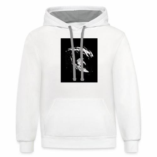 Astronaut Surf tshirt 01 HQ 01 - Contrast Hoodie