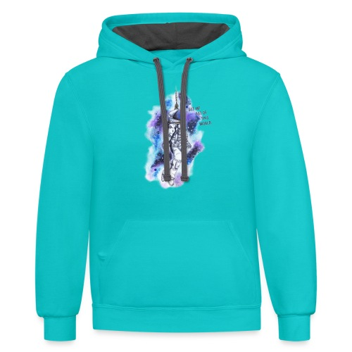Get Me Out Of This World - Contrast Hoodie