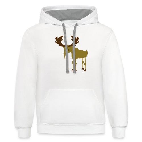 Moose - Unisex Contrast Hoodie