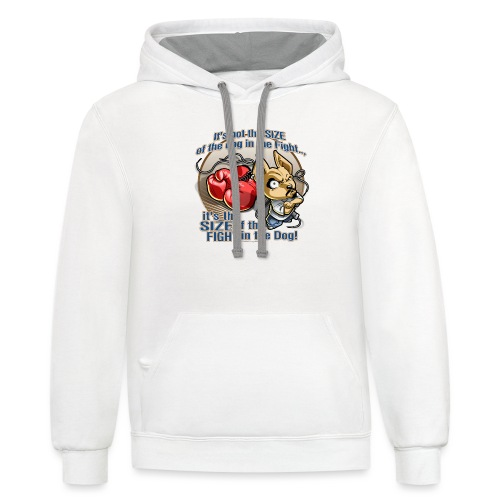 Dog in fight by RollinLow - Contrast Hoodie