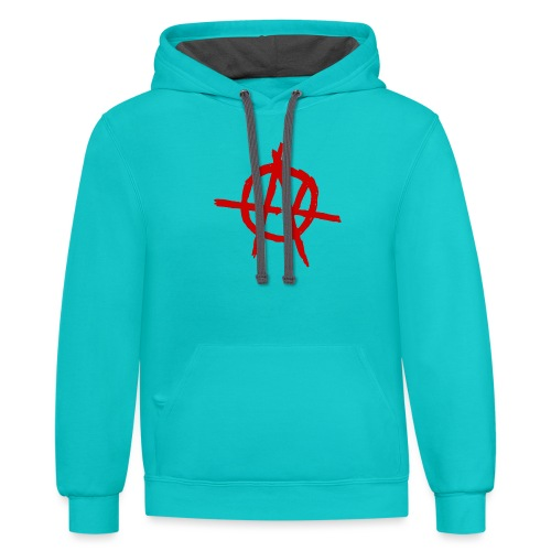 Anarchy (Red) - Unisex Contrast Hoodie