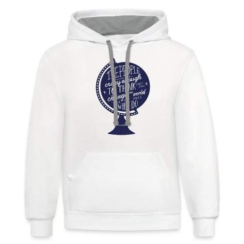 change the world - Contrast Hoodie