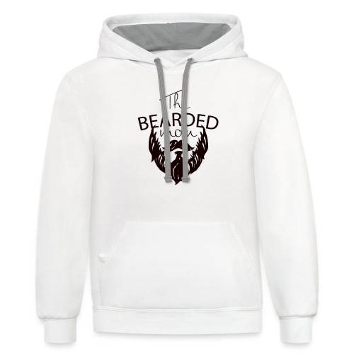 The bearded man - Unisex Contrast Hoodie