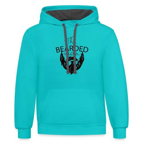 The bearded man - Unisex Contrast Hoodie