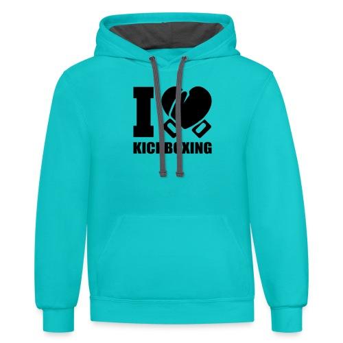 I Love Kickboxing - Contrast Hoodie