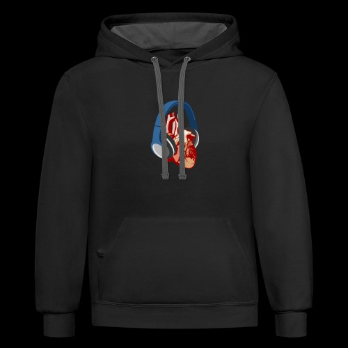 Heartbeats for Music Headphones - Contrast Hoodie