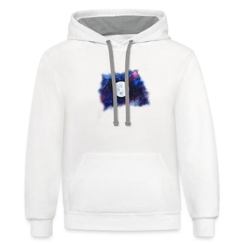 moon shirt - Contrast Hoodie