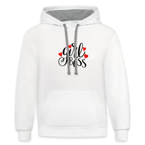 girl boss - Contrast Hoodie