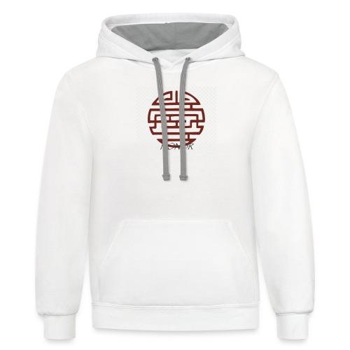 kanji - Contrast Hoodie