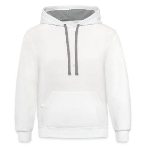 I clean barbells not kitchens (white) - Contrast Hoodie