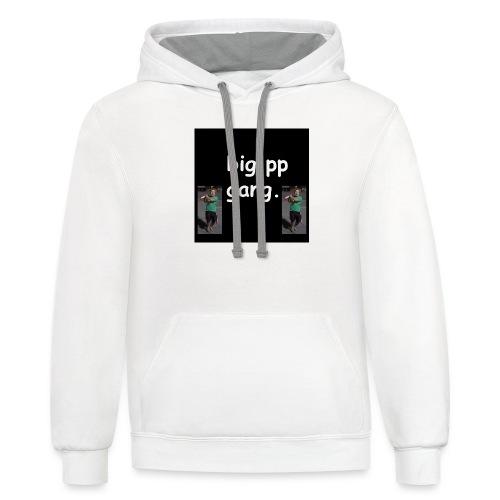big pp gang - Contrast Hoodie