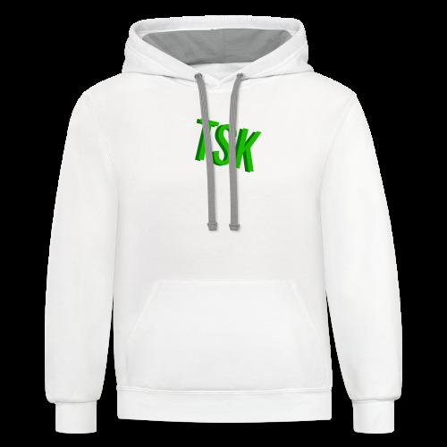 Meget simpel TSK trøje - Contrast Hoodie