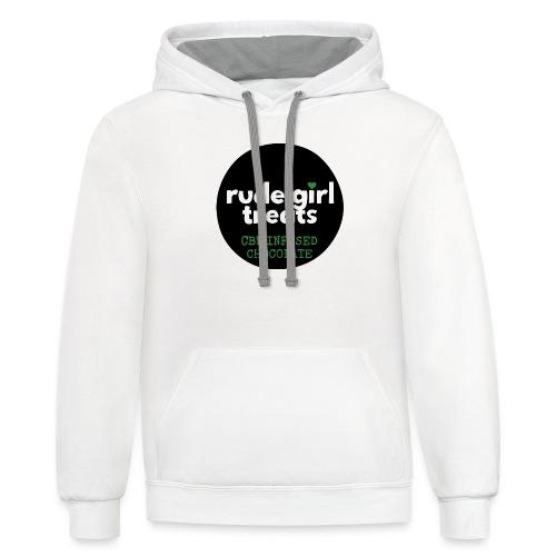 Rude Girl Treats Original Rudi - Contrast Hoodie
