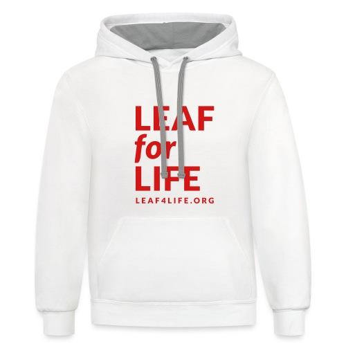 leaf4life logo red - Contrast Hoodie