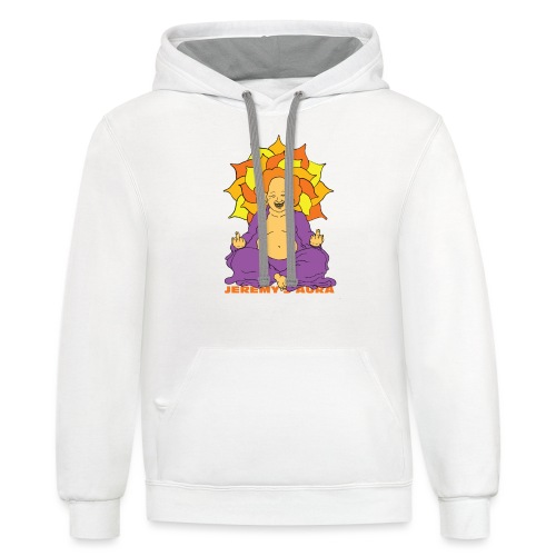 Laughing At You Buddha - Contrast Hoodie
