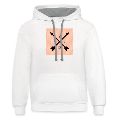 Ydlm Ambroid logo - Unisex Contrast Hoodie