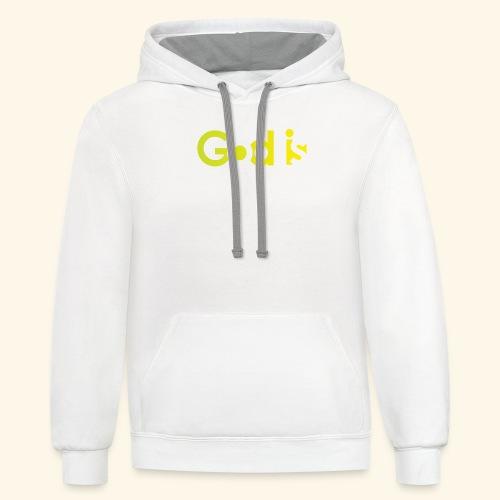 GOD IS #7 - Contrast Hoodie