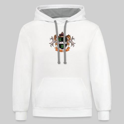 Satanic Heraldry - Coat of Arms - Contrast Hoodie