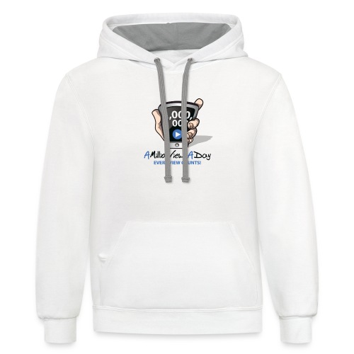 AMillionViewsADay - every view counts! - Contrast Hoodie