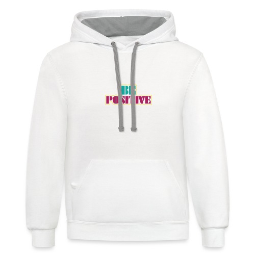 BE positive - Contrast Hoodie
